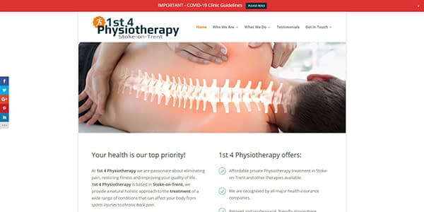 1st 4 Physiotherapy Screenshot