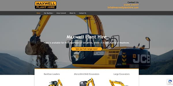 Maxwell Plant Hire Screenshot
